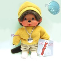 Monchhichi Fleece Cap & Sweat Girl Yellow 抓毛 帽 及 衣 236040