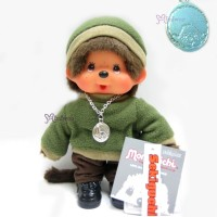Monchhichi Fleece Cap & Sweat Girl Green 抓毛 帽 及 衣 236050