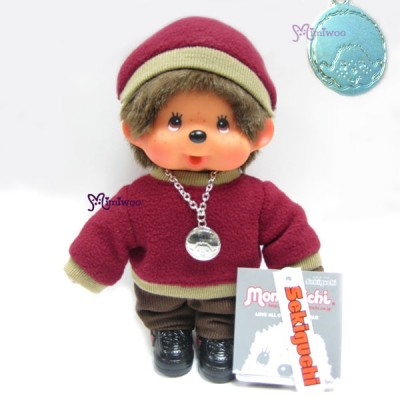 Monchhichi Fleece Cap & Sweat Girl Red 抓毛 帽 及 衣 236060