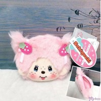 Monchhichi Strawberry & Heart Plush Zipper Coin Bag 士多啤梨 錢包 236850