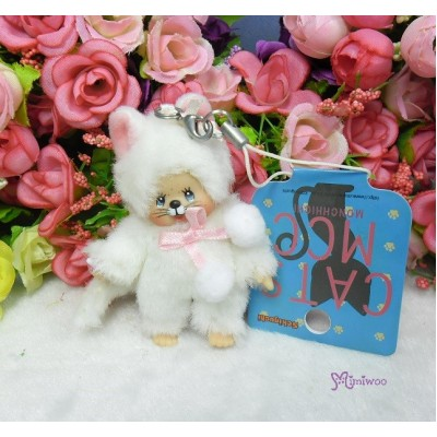 Bebichhichi Mascot Keychain Plush Cat White 白貓 236980