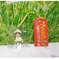 Monchhichi 3cm Mini Mascot Animal Phone Strap Keychain Duck 吊飾 237170