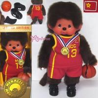 Monchhichi S Size Plush Medalist Basketball 奥運 藍球員 238090