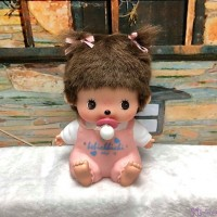 Monchhichi Bebichhichi Plastic Coin Bank Pink Girl 膠錢箱 238790