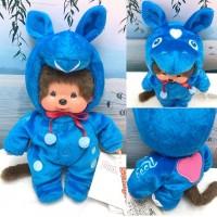 Monchhichi x Rody Horse S Size 20cm Plush Blue 238910