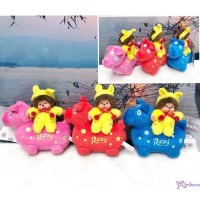 Monchhichi x Rody Horse 11cm Plush Mascot (Set of 3pcs )跳跳馬 吊飾 #238950+60+70