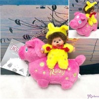Monchhichi x Rody Horse 11cm Plush Mascot Ball Chain Pink 跳跳馬 吊飾 #238950