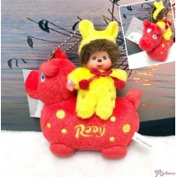 Monchhichi x Rody Horse 11cm Plush Mascot Ball Chain Red 跳跳馬 吊飾 #238960