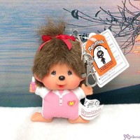 Monchhichi SS Big Head Mascot Keychain Tennis Club Girl 網球 吊飾 239510
