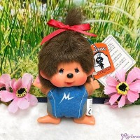 Monchhichi SS Big Head Mascot Keychain Swimming Club Girl 游泳隊 吊飾 239540