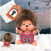 Monchhichi SS Big Head Mascot Keychain Basketball Club Boy 籃球員 吊飾 239580