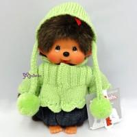 Sekiguchi Monchhichi S Size Dressed Knit Coat & Cap Girl 239700