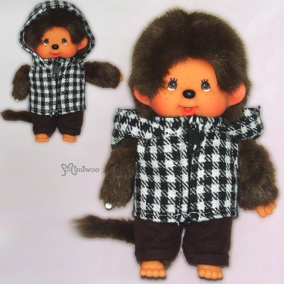Monchhichi S Size Dressed Montone Checker Parka Boy 239790