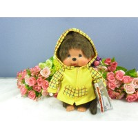 Monchhichi S Size Dressed Yellow Checker Parka Girl 239850
