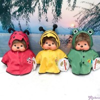 Monchhichi 25cm MCC Poncho deEnjoy Rainy Days (Set of 3pcs) 240850+60+70