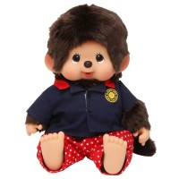 Monchhichi L Size Soft Head Bowling  Shirt Boy 軟頭 保齡球 衫 241378