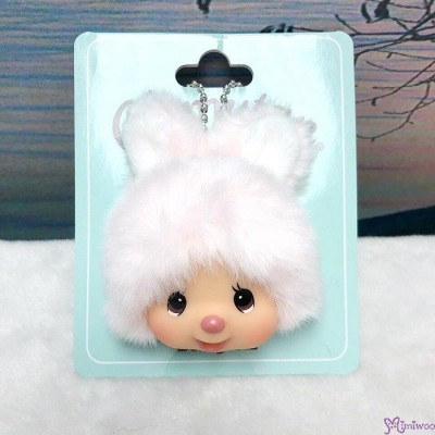 Monchhichi Friend Chimutan 8cm Mini Plush Head Mascot 毛公仔 吊飾 243686