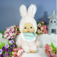 Monchhichi Friend Chimutan M Size Chimtan Chim Tan Bunny Pink 兔子 250738 ~~ RARE ~~