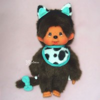 Sekiguchi Monchhichi Cat Ear S Size MCC Plush Green 貓耳 ~ RARE ~~ 254620