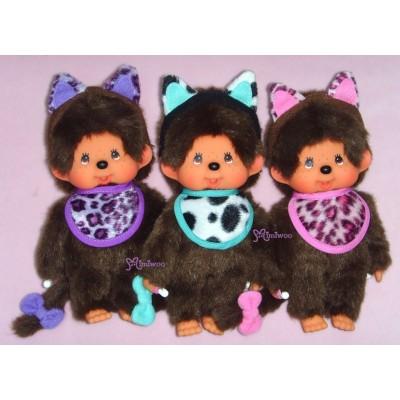 Sekiguchi Monchhichi Cat Ear S Size MCC Plush Purple 貓耳 ~ RARE ~~ 254640