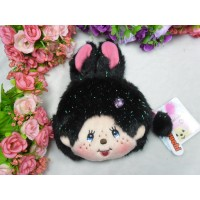 Monchhichi Bunny Pass Case + Coin Bag Black 拉鍊 錢包 連 八達通 套 吊飾 255840