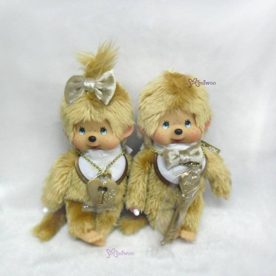 Monchhichi 40th Anniversary 18cm MCC Gold Boy & Girl 257380+90