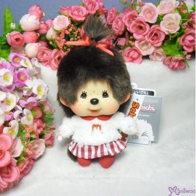 Monchhichi Big Head Mascot Keychain Moco Moco Tee Girl 大頭 公仔 258871