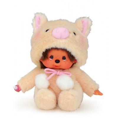 Monchhichi S Size Plush MCC Animal Sitting Pig 259080