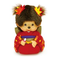 Monchhichi S Size MCC Kimono Scarlet Maple Leaves Bean Bag 紅葉 和服 259472