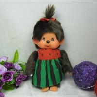 """Monchhichi S Size 8"""" Plush MCC Watermelon Girl 259977"""