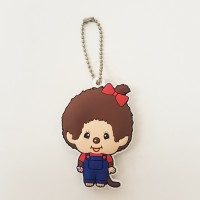 Monchhichi Soft Plastic Mascot Keychain 軟膠 鑰匙扣 - Girl 260447