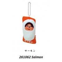 Monchhichi Mascot Japan Sushi Keychain Tuna 三文魚 壽司  261062