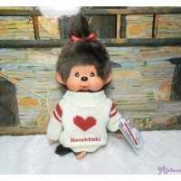 Monchhichi Heart Knit 26cm M Size Girl 心心 冷衫 公仔 261277