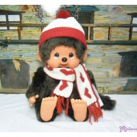 Monchhichi Heart Knit 35cm Super Soft L Size Boy 心心 冷衫 公仔 261291