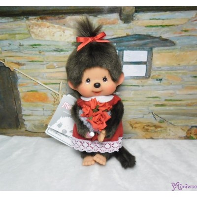 Monchhichi S Size Flower Bouquet Girl 玫瑰花 女孩 261475