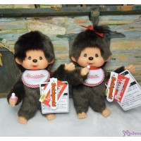 Monchhichi S Size Skeleton Posing MCC Boy & Girl (PAIR) 261680+261697