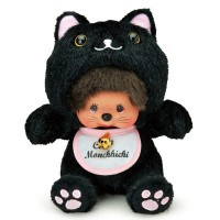 Monchhichi S Size Plush Doll Kitten Black Nya Nya Cat 黑貓 261765