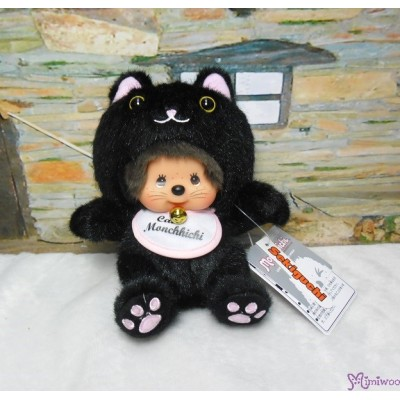 Monchhichi S Size Plush Doll Kitten Black Nya Nya Cat 黑貓 261765