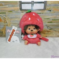 Big Head Monchhichi Mascot SS Size Keychain Strawberry 大頭 士多啤梨 吊飾 262069