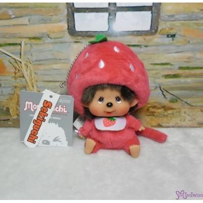 Big Head Monchhichi Mascot SS Size Keychain Strawberry 大頭 士多啤梨 吊飾 262069