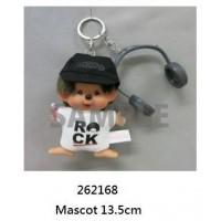 FES Monchhichi 2018 Plush Mascot Rock DJ Boy with Headphone 262168 預訂