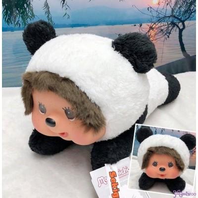Sekiguchi Monchhichi L Size 35cm Plush Lying Panda 爬行熊貓 262182