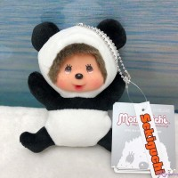 Monchhichi Plush Mascot 13cm Keychain Panda 熊貓 吊飾 262199