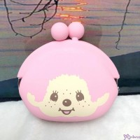 Monchhichi Silicon Coin Bag Silicone Purse  Pink 矽膠 錢包 262281