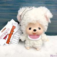 Big Head Monchhichi Friend SS Size Plush + Ball Chain Mascot Sheep 262366