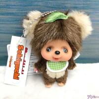 Big Head Monchhichi Friend SS Size Plush + Ball Chain Mascot Raccoon 262373