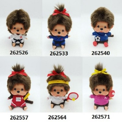 Sport Monchhichi 13cm Judo Tennis Soccer Athlete Boy & Girl (6pcs Set) PRE-ORDER  262526set