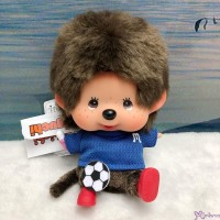 Monchhichi 13cm Bean Bag Sitting Sport Soccer Boy 262540 ~ PRE-ORDER ~