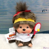 Monchhichi 13cm Bean Bag Sitting Sport Tennis  Girl 262564