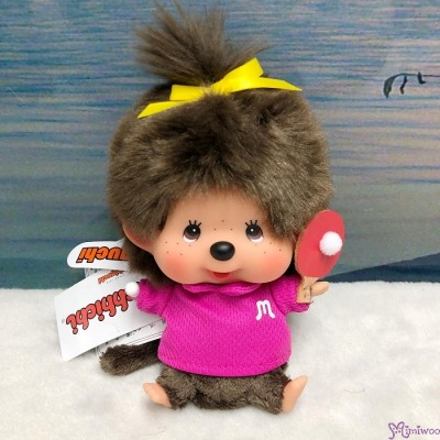 Monchhichi 13cm Bean Bag Sitting Sport Ping Pong Girl 262571
